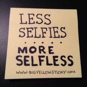 Selfies vs. Selfless