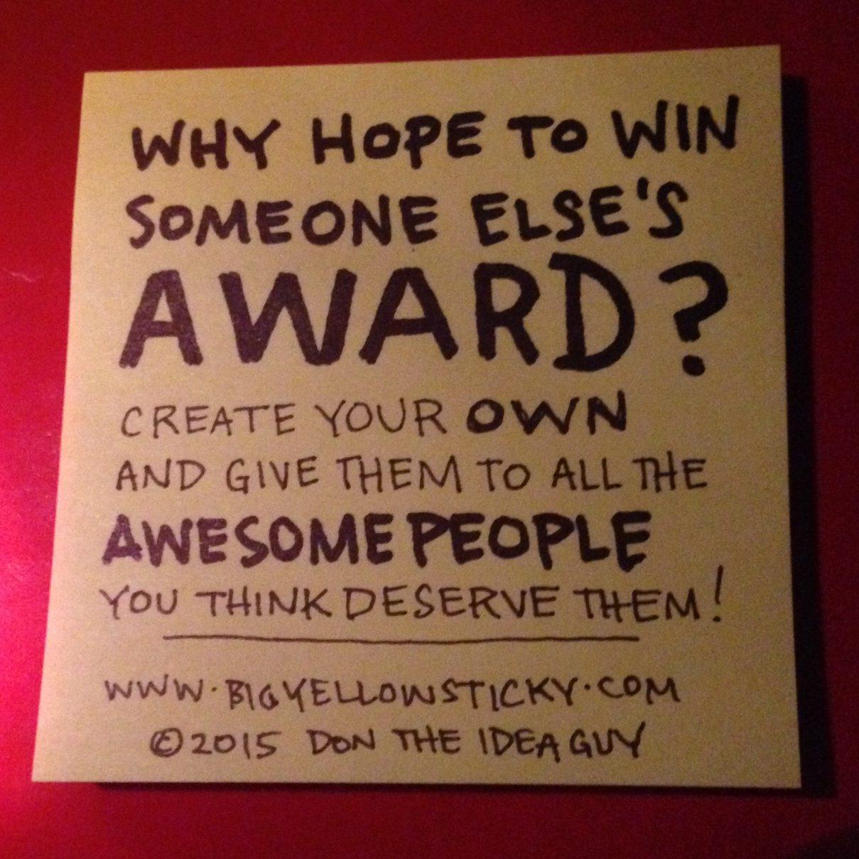 Someone Else's Award