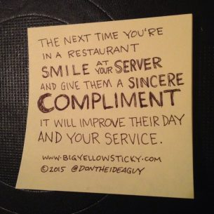Smile at your server