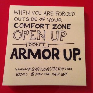 Open Up Don't Armor Up