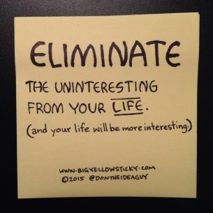 Eliminate The Uninteresting