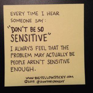 A Sensitive Topic