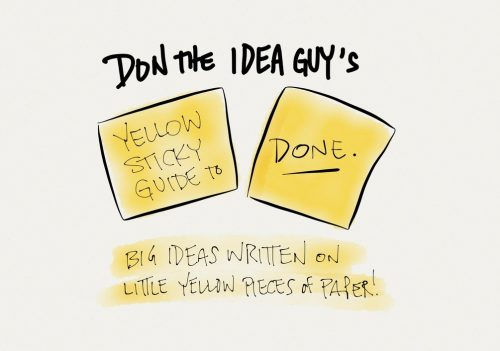 yellow sticky guide to DONE