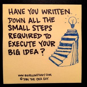 small steps big idea